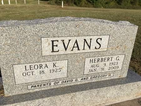 EVANS, HERBERT G - Van Buren County, Iowa | HERBERT G EVANS