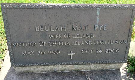 SLOAN FYE, BEULAH MAY - Van Buren County, Iowa | BEULAH MAY SLOAN FYE