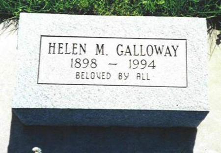 GALLOWAY, HELEN M. - Van Buren County, Iowa | HELEN M. GALLOWAY