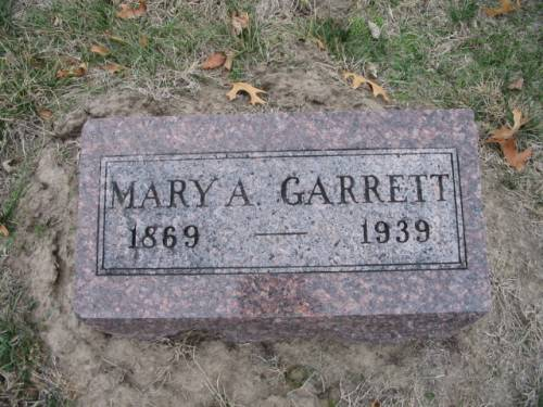 GARRETT, MARY A. - Van Buren County, Iowa | MARY A. GARRETT