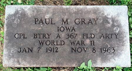 GRAY, PAUL M - Van Buren County, Iowa | PAUL M GRAY