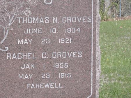GROVES, RACHEL C. - Van Buren County, Iowa | RACHEL C. GROVES