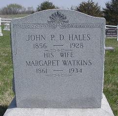 WATKINS HALES, MARGARET - Van Buren County, Iowa | MARGARET WATKINS HALES