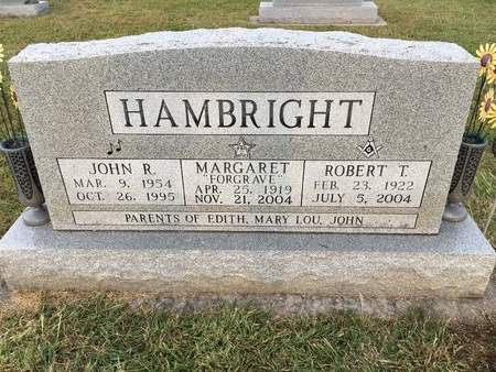 FORGRAVE HAMBRIGHT, MARGARET - Van Buren County, Iowa | MARGARET FORGRAVE HAMBRIGHT