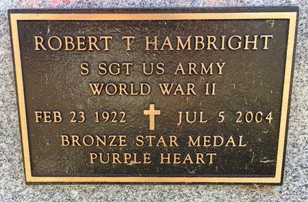 HAMBRIGHT, ROBERT T - Van Buren County, Iowa   ROBERT T HAMBRIGHT