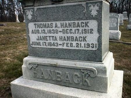 HANBACK, THOMAS & JANETTA A. - Van Buren County, Iowa | THOMAS & JANETTA A. HANBACK