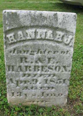 HARBESON, HANNAH J. - Van Buren County, Iowa   HANNAH J. HARBESON