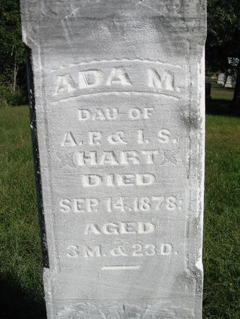 HART, ADA M. - Van Buren County, Iowa | ADA M. HART