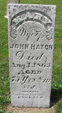 HATCH, MARY - Van Buren County, Iowa | MARY HATCH