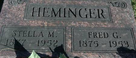 HEMINGER, FRED - Van Buren County, Iowa   FRED HEMINGER