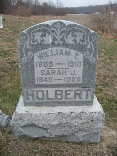 HOLBERT, WILLIAM T. & SARAH J. - Van Buren County, Iowa | WILLIAM T. & SARAH J. HOLBERT