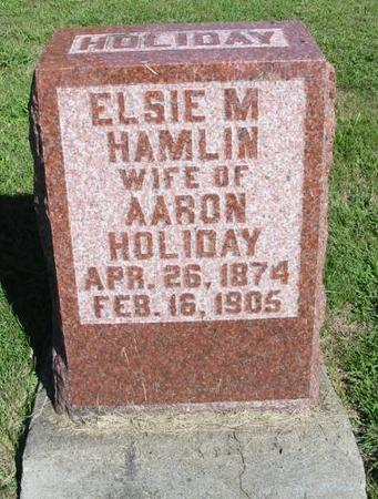 HOLIDAY, ELSIE M. - Van Buren County, Iowa   ELSIE M. HOLIDAY