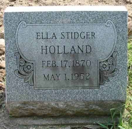 STIDGER HOLLAND, ELLA - Van Buren County, Iowa | ELLA STIDGER HOLLAND