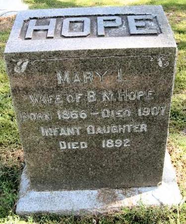 BONAR HOPE, MARY I. - Van Buren County, Iowa | MARY I. BONAR HOPE