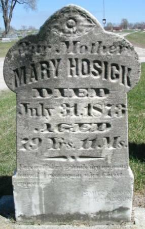 HOSICK, MARY - Van Buren County, Iowa | MARY HOSICK