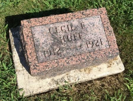 HUFF, CECIL E. - Van Buren County, Iowa | CECIL E. HUFF