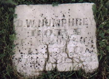 HUMPHREY, D.W. - Van Buren County, Iowa | D.W. HUMPHREY