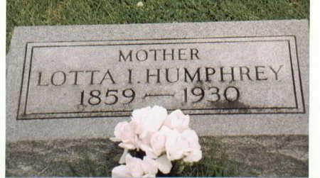 HUMPHREY, LOTTA I. - Van Buren County, Iowa | LOTTA I. HUMPHREY