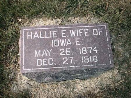 HUNTER, HALLIE E. - Van Buren County, Iowa | HALLIE E. HUNTER