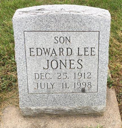 JONES, EDWARD LEE - Van Buren County, Iowa | EDWARD LEE JONES