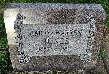 JONES, HARRY WARREN - Van Buren County, Iowa | HARRY WARREN JONES