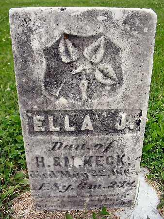 KECK, ELLA J. - Van Buren County, Iowa   ELLA J. KECK