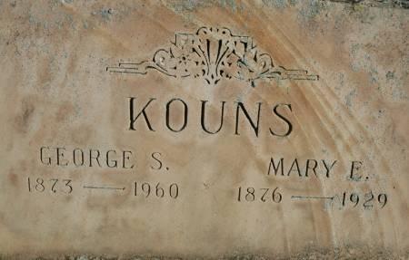 KOUNS, MARY E - Van Buren County, Iowa   MARY E KOUNS