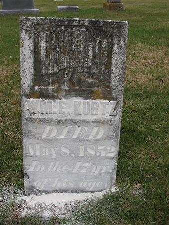 KURTZ, WILLIAM E. - Van Buren County, Iowa | WILLIAM E. KURTZ