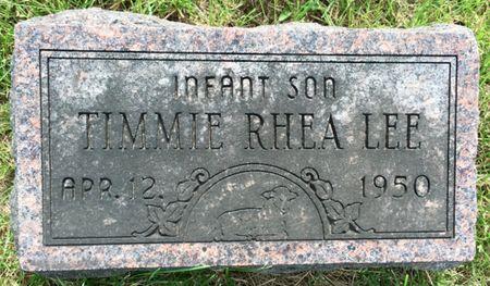 LEE, TIMMIE RHEA - Van Buren County, Iowa   TIMMIE RHEA LEE
