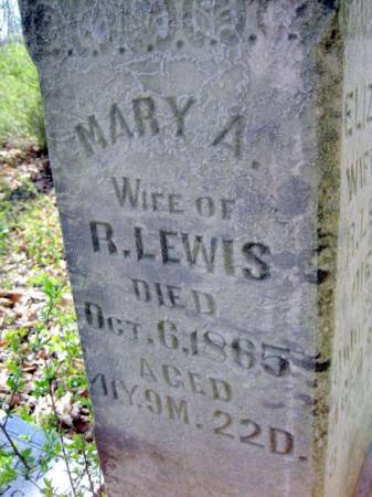 LEWIS, MARY A. - Van Buren County, Iowa | MARY A. LEWIS