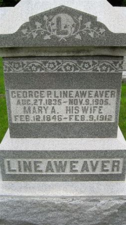 LINEAWEAVER, GEORGE P. - Van Buren County, Iowa   GEORGE P. LINEAWEAVER