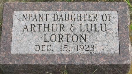 LORTON, INFANT DAUGHTER - Van Buren County, Iowa | INFANT DAUGHTER LORTON