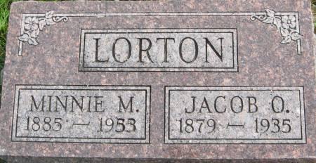 LORTON, JACOB O. - Van Buren County, Iowa   JACOB O. LORTON
