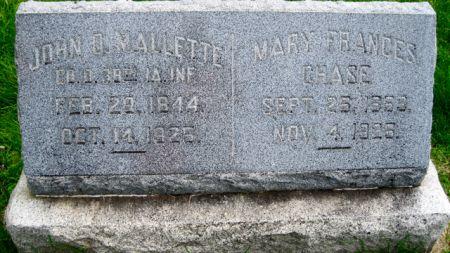 MALLETTE CHASE, MARY FRANCES - Van Buren County, Iowa | MARY FRANCES MALLETTE CHASE