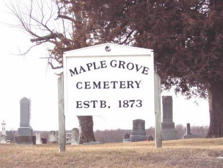 MAPLE GROVE, CEMETERY - Van Buren County, Iowa | CEMETERY MAPLE GROVE