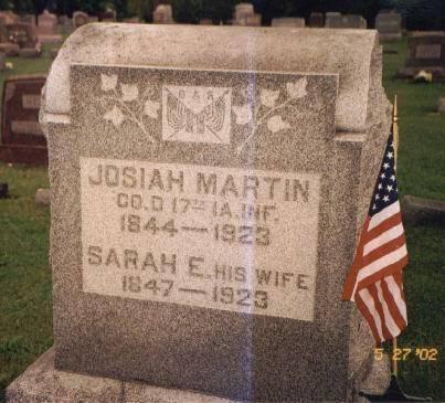 MARTIN, JOSIAH WESLEY & SARAH E. (LAWSON) - Van Buren County, Iowa | JOSIAH WESLEY & SARAH E. (LAWSON) MARTIN