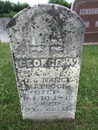 MATLOCK, GEORGE W. - Van Buren County, Iowa | GEORGE W. MATLOCK