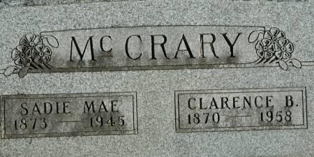 MCCRARY, SADIE MAE - Van Buren County, Iowa | SADIE MAE MCCRARY
