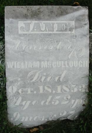 MCCULLOUGH, JANE - Van Buren County, Iowa | JANE MCCULLOUGH