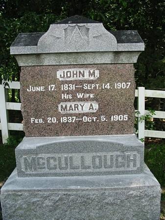 MCCULLOUGH, JOHN M. - Van Buren County, Iowa | JOHN M. MCCULLOUGH