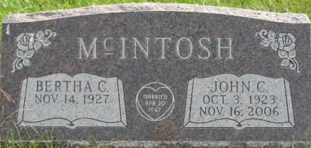 MCINTOSH, JOHN C. - Van Buren County, Iowa   JOHN C. MCINTOSH
