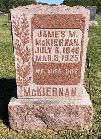 MCKIERNAN, JAMES M - Van Buren County, Iowa   JAMES M MCKIERNAN