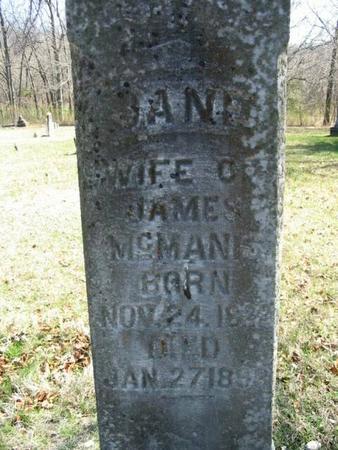 MCMANIS, JANE - Van Buren County, Iowa | JANE MCMANIS