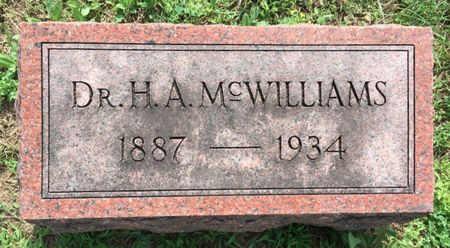 MCWILLIAMS, DR. H A - Van Buren County, Iowa | DR. H A MCWILLIAMS