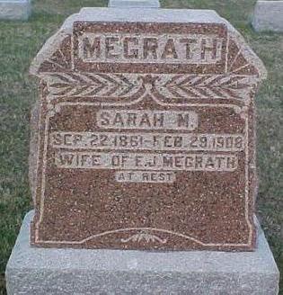 MEGRATH, SARAH M. - Van Buren County, Iowa | SARAH M. MEGRATH