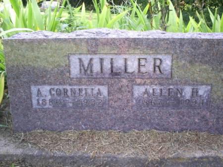 MILLER, A CORNELLA - Van Buren County, Iowa   A CORNELLA MILLER