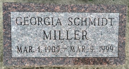 SCHMIDT MILLER, GEORGIA - Van Buren County, Iowa | GEORGIA SCHMIDT MILLER