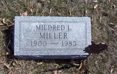 MILLER, MILDRED - Van Buren County, Iowa | MILDRED MILLER