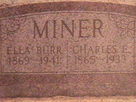 MINER, ELLA - Van Buren County, Iowa   ELLA MINER