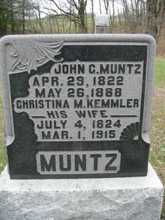 KEMMLER MUNTZ, CHRISTINA M. - Van Buren County, Iowa | CHRISTINA M. KEMMLER MUNTZ